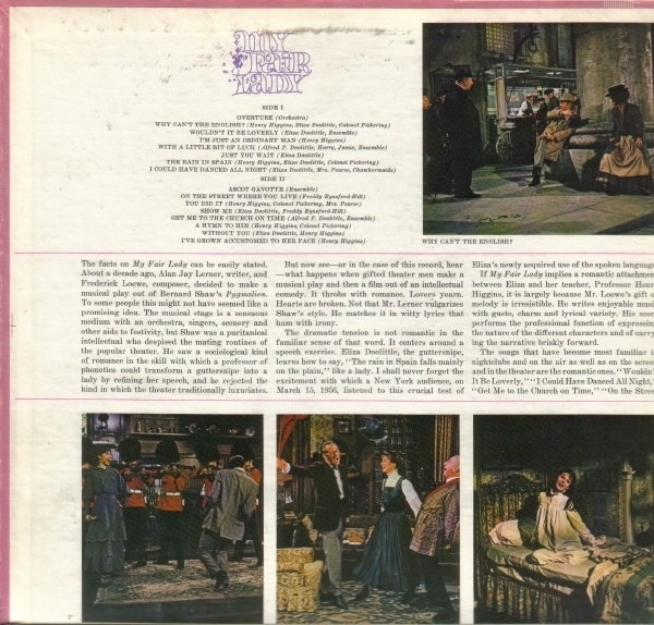 Audrey Hepburn And Rex Harrison My Fair Lady - Soundtrack (GATEFOLD)