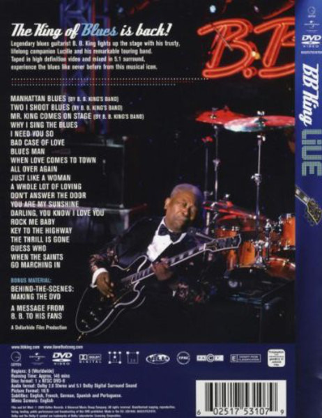 Live by B B  King, DVD with recordsale