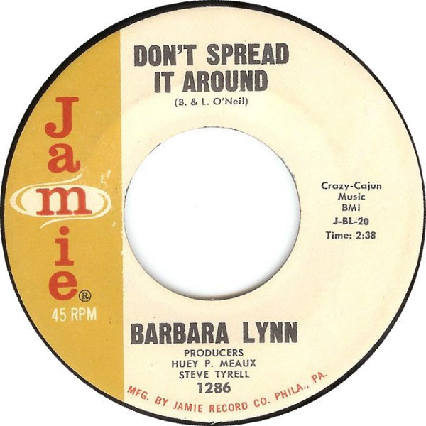BARBARA LYNN - Don't Spread It Around / Let Her Knock Herself Out - 7inch x 1