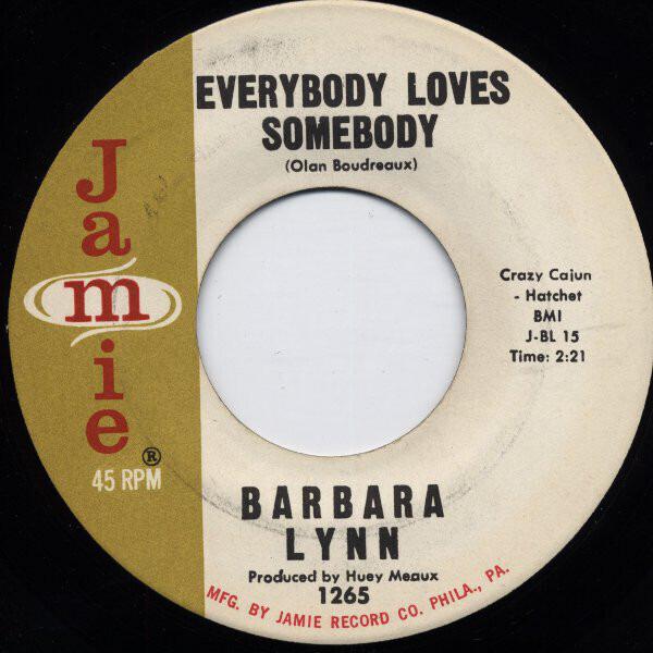 BARBARA LYNN - Everybody Loves Somebody / Dedicate The Blues To Me - 7inch x 1