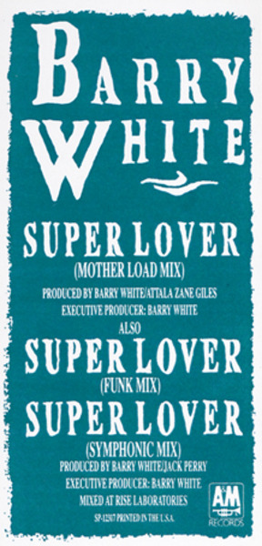 BARRY WHITE - Super Lover - 12'' 1枚
