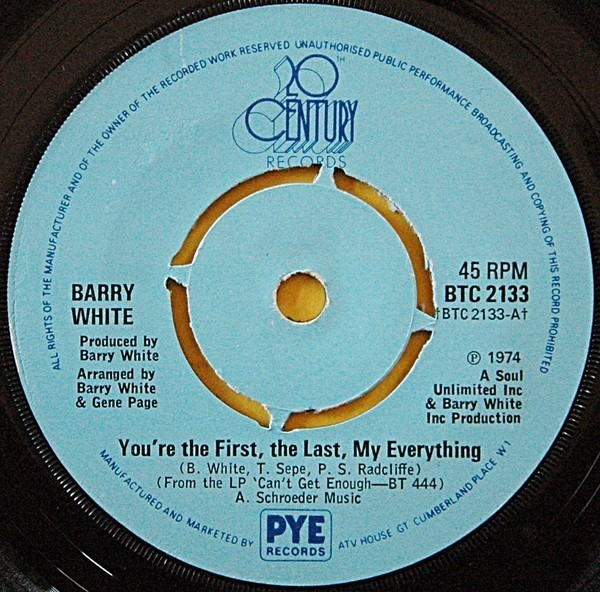 Barry White You're The First, The Last, My Everything (KNOCKOUT CENTRE)