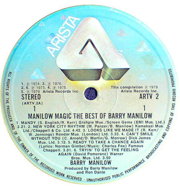 Barry Manilow Manilow Magic The Best Of Barry Manilow