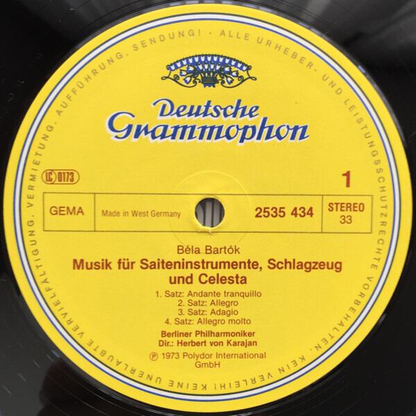 Béla Bartók / Igor Stravinsky - Berliner Philharmo Musik Für Saiteninstrumente, Schlagzeug & Celesta / Apollon Musagète