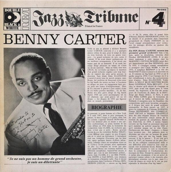 #<Artist:0x007efd4b82a790> - Benny Carter (1928 - 1952)