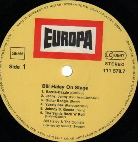 #<Artist:0x007f88b2045208> - Bill Haley On Stage