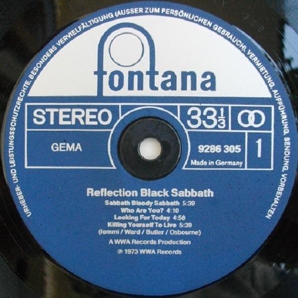 Black Sabbath Reflection Near Comme Neuf Fontana Vinyl Lp