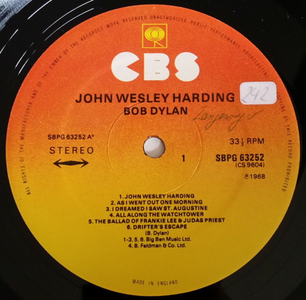 #<Artist:0x0000000008733f40> - John Wesley Harding