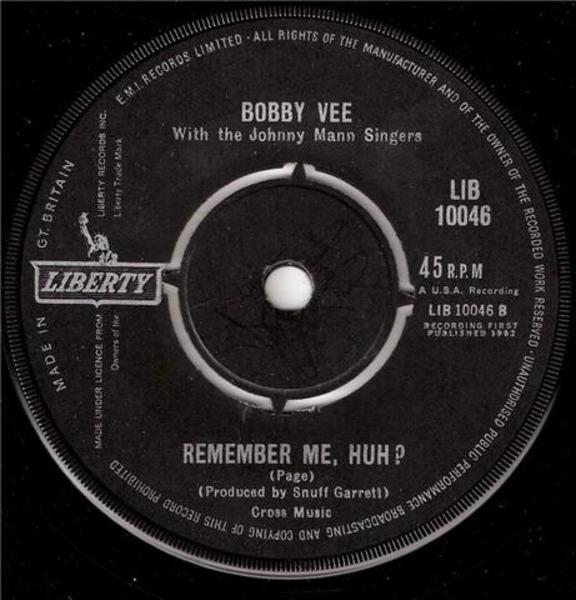 Bobby Vee A Forever Kind Of Love / Remember Me, Huh?