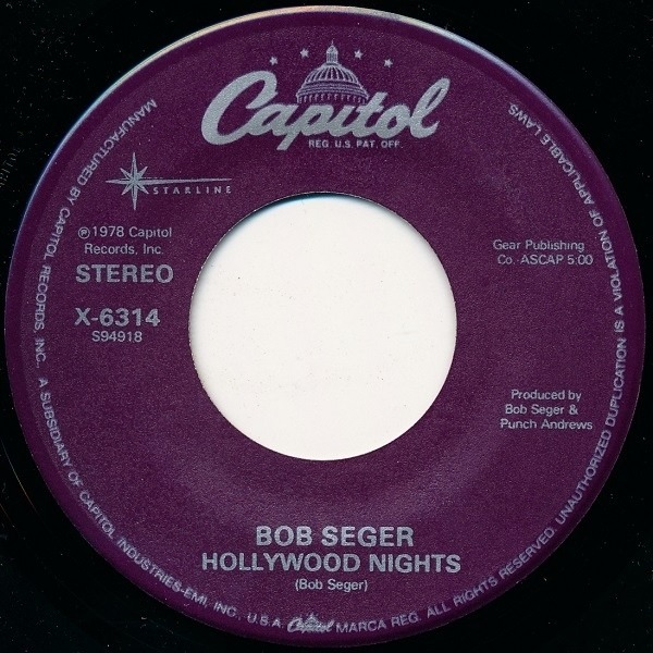 #<Artist:0x00007fef076d6a20> - Hollywood Nights / Rock And Roll Never Forgets