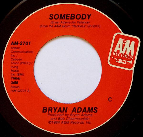 Bryan Adams Somebody