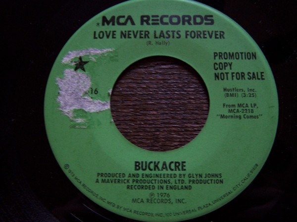 Buckacre Love Never Lasts Forever (PINK LABEL)