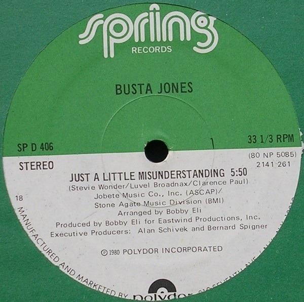 busta jones just a little misunderstanding