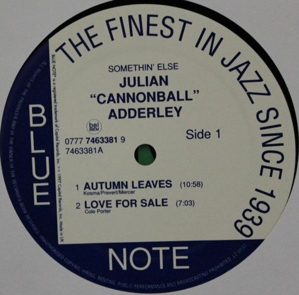Cannonball Adderley / Miles Davis / Hank Jones / S Somethin' Else