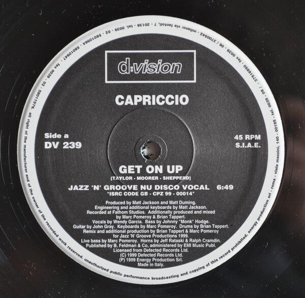 CAPRICCIO - Get On Up - Maxi x 1