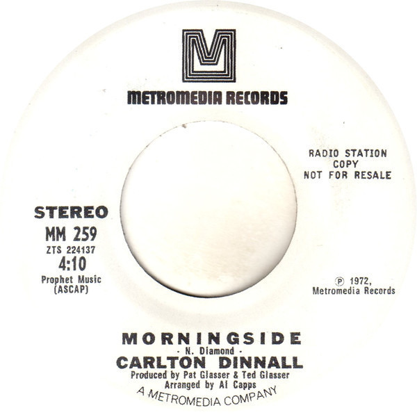 CARLTON DINNALL - Here's To The Next Time / Morningside - 7inch x 1