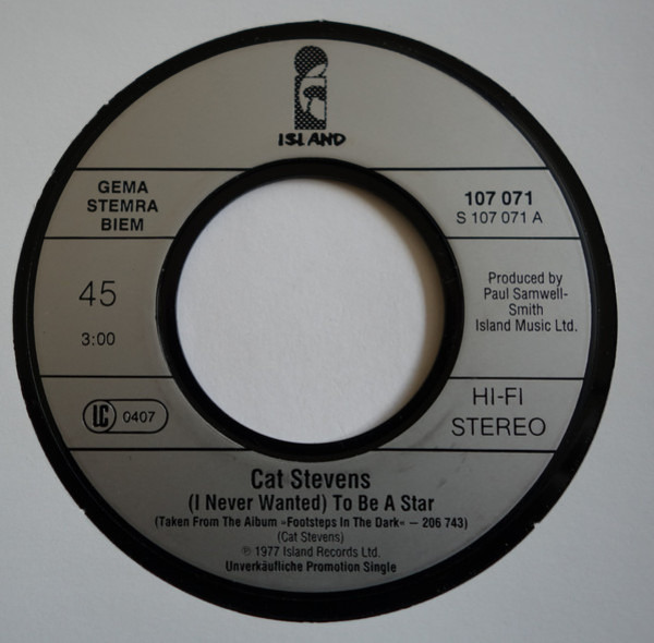 Cat Stevens (I Never Wanted) To Be A Star