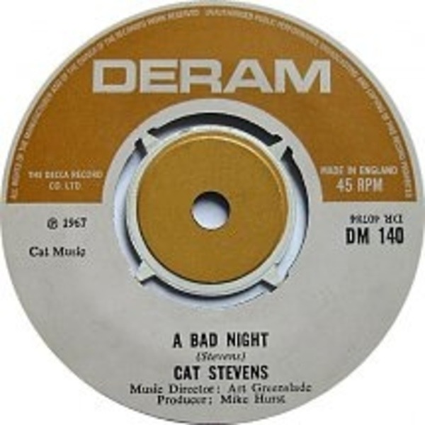 Cat Stevens A Bad Night / The Laughing Apple
