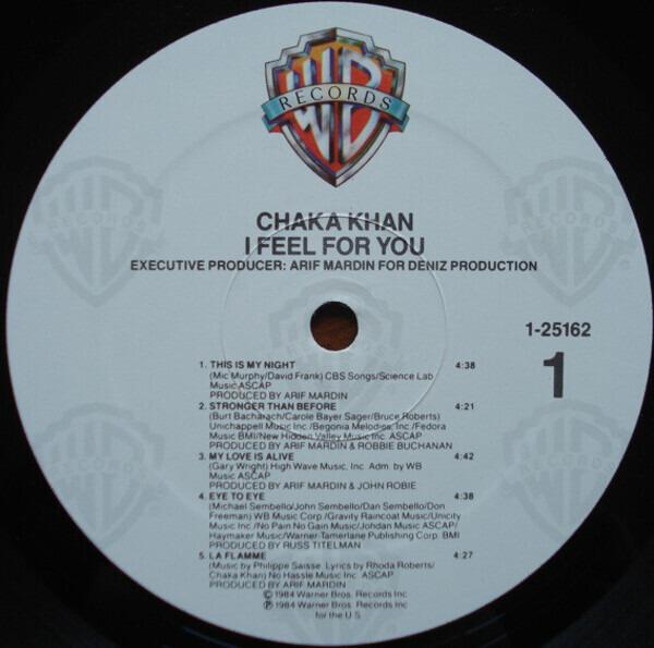 Chaka Khan I Feel For You (SRC PRESSING,STILL SEALED)