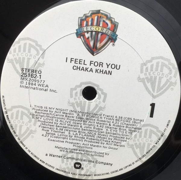 Chaka Khan i feel for you (still sealed)