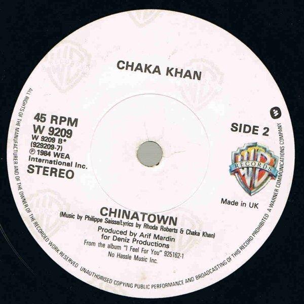 Chaka Khan i feel for you (paper labels)