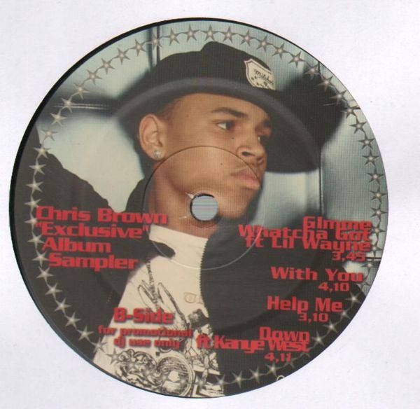 Exclusive album sampler by Chris Brown, 12 inch x 1 with recordsale