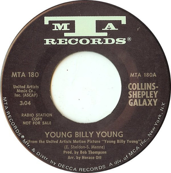 COLLINS-SHEPLEY GALAXY - Young Billy Young - 7inch x 1