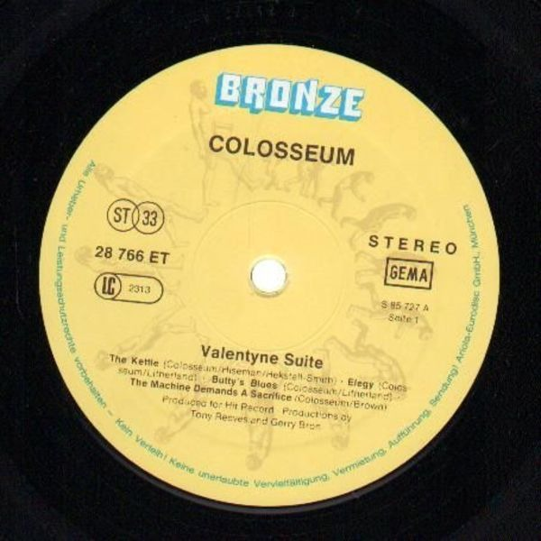 COLOSSEUM - Valentyne Suite (VINYL ONLY, COVER MISSING) - LP