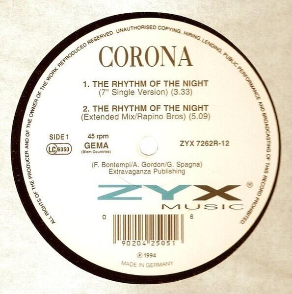 CORONA THE RYTHM OF THE NIGHT 90Е СКАЧАТЬ БЕСПЛАТНО