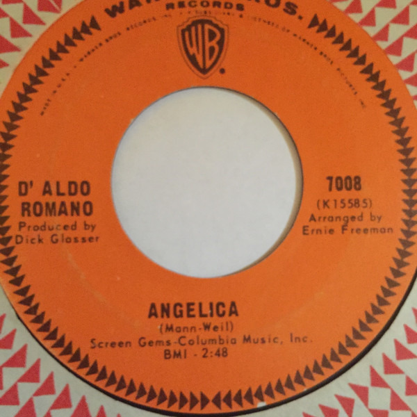 D' Aldo Romano I'll Set My Love To Music / Angelica