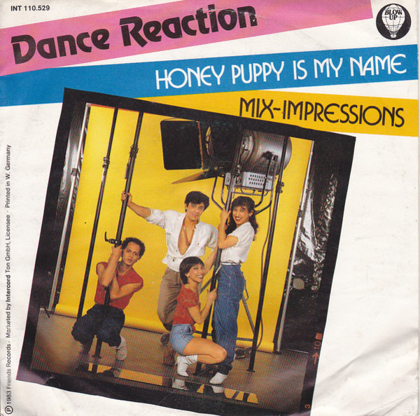 DANCE REACTION - Honey Puppy Is My Name / Mix-Impressions - 45T x 1