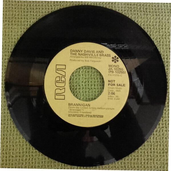 DANNY DAVIS & THE NASHVILLE BRASS - Brannigan / Peppy Time Tune - 7inch x 1