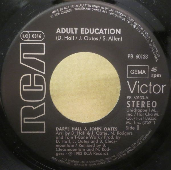 Daryl Hall & John Oates Adult Education