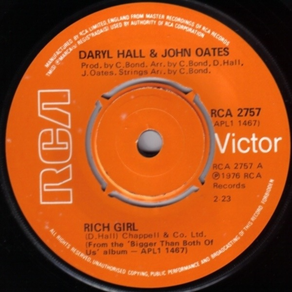Daryl Hall & John Oates Rich Girl