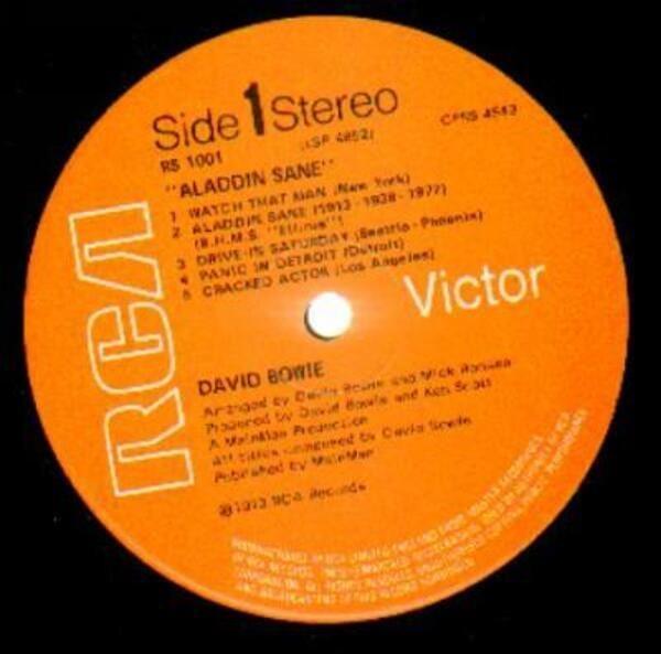 David Bowie Aladdin Sane (UK ORIGINAL 3T)