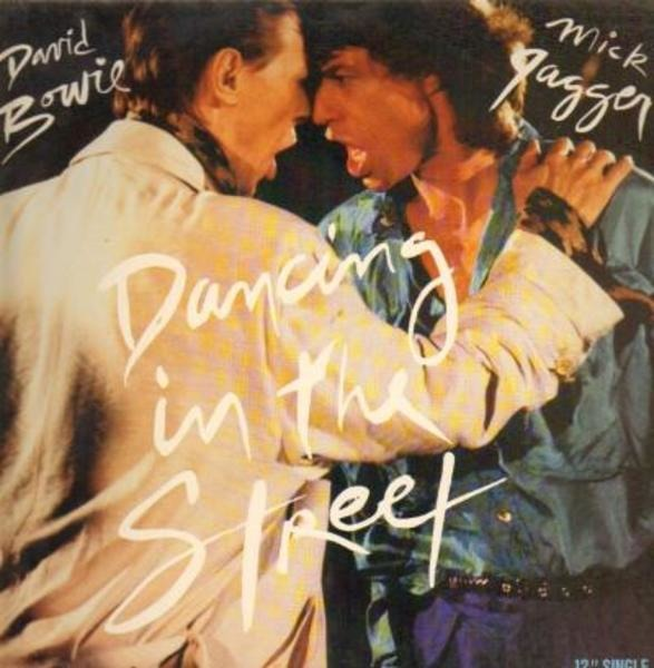 david bowie and mick jagger dancing in the street