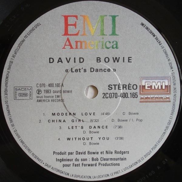 David Bowie let's dance (france)