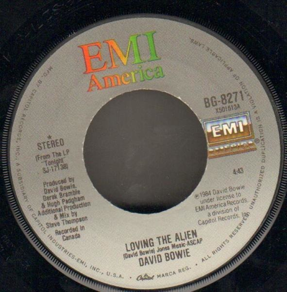 David Bowie Loving The Alien (Re-Mixed Version) (NO PICTURE SLEEVE)