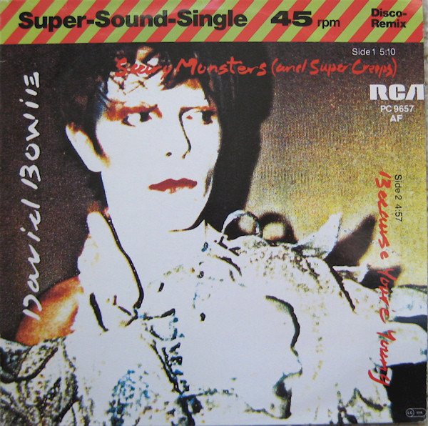 DAVID BOWIE - Scary Monsters (And Super Creeps) / Because You're Young - 12 inch x 1