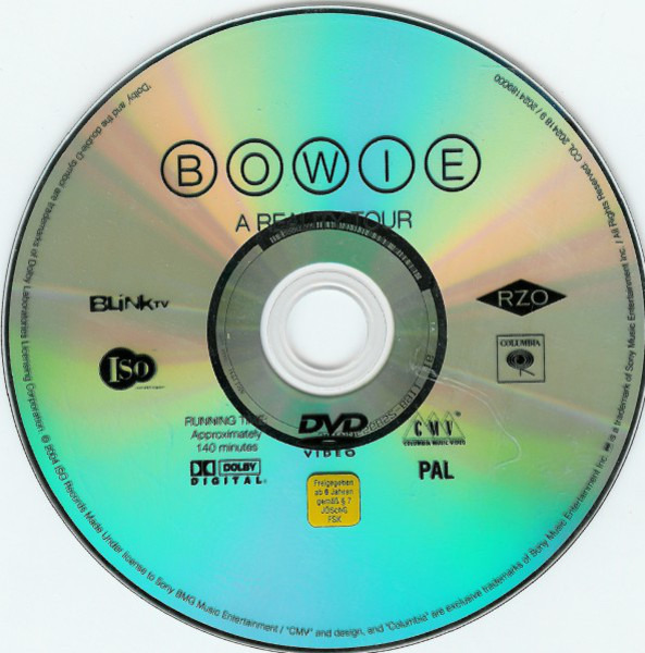 David Bowie A Reality Tour (DIGIPAK)