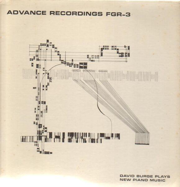 DAVID BURGE - David Burge Plays New Piano Music - 33T