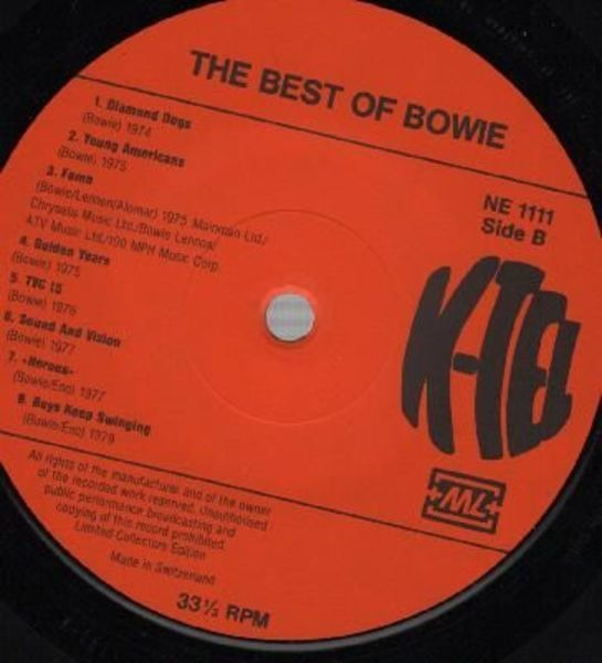 David Bowie The Best Of Bowie