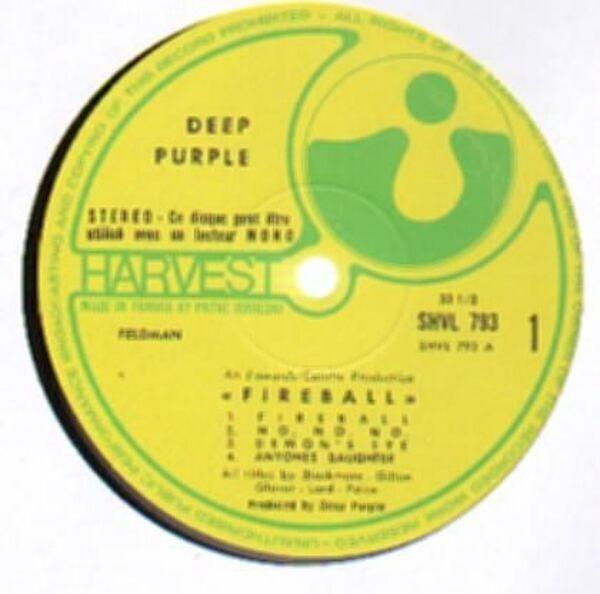 Deep Purple Fireball (FRANCE + INSERT)