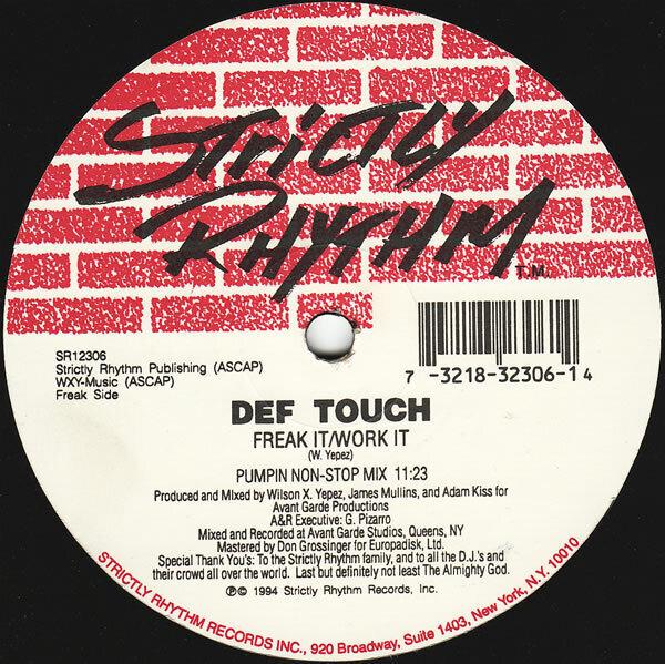 DEF TOUCH - Freak It / Work It - 12 inch x 1