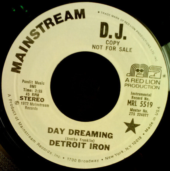 DETROIT IRON - Day Dreaming - 7inch x 1