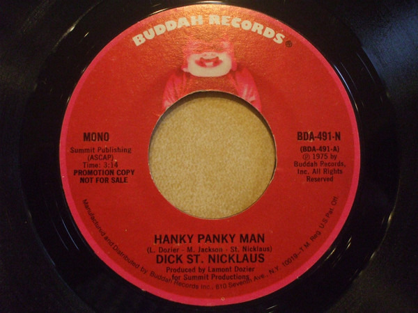 Dick St. Nicklaus Hanky Panky Man (PROMO COPY)