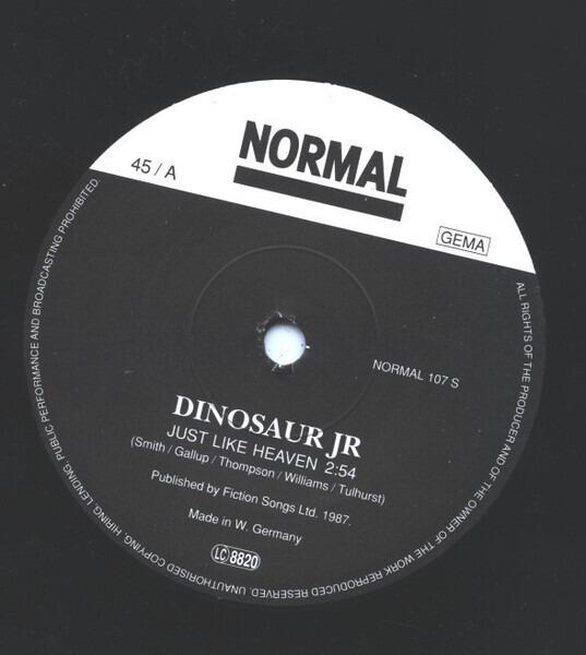 DINOSAUR JR. - Just Like Heaven - 7inch x 1