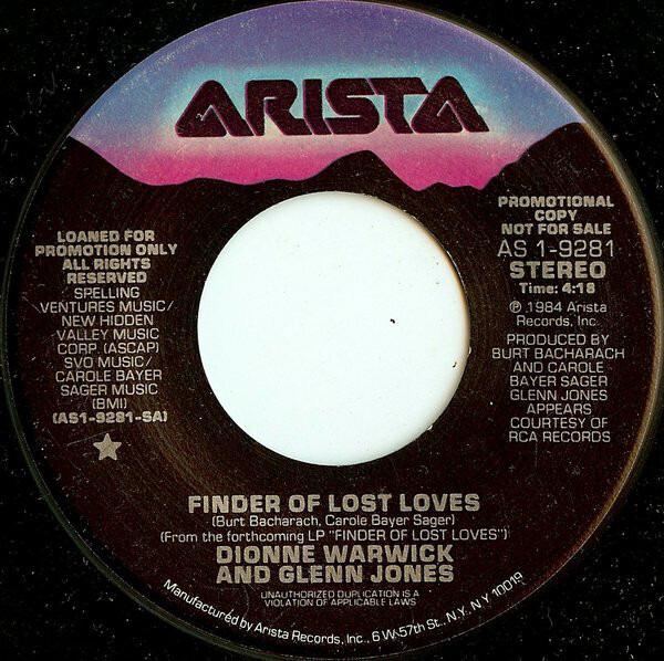 Dionne Warwick And Glenn Jones Finder Of Lost Loves