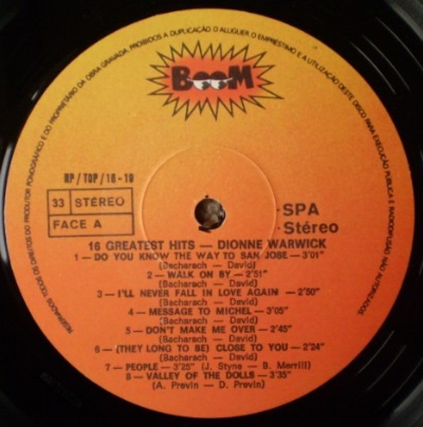 Dionne Warwick 16 Greatest Hits