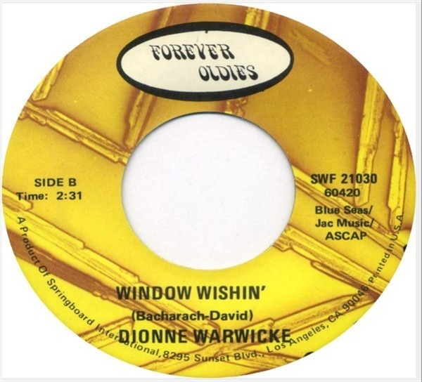 Dionne Warwick Alfie / Window Wishin'